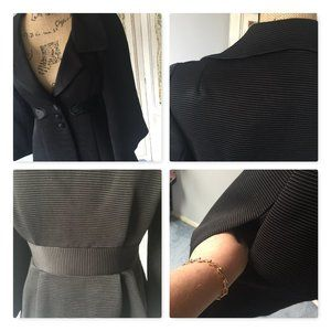 Nanette Lepore Jackets & Coats - Nanette Lepore Black Fit Flare Dress Coat Sz 2
